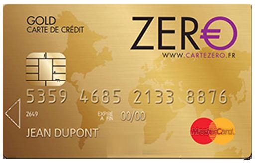 La Carte de Crédit ZERO Gold Mastercard - Caractéristiques et Comment Souscrire