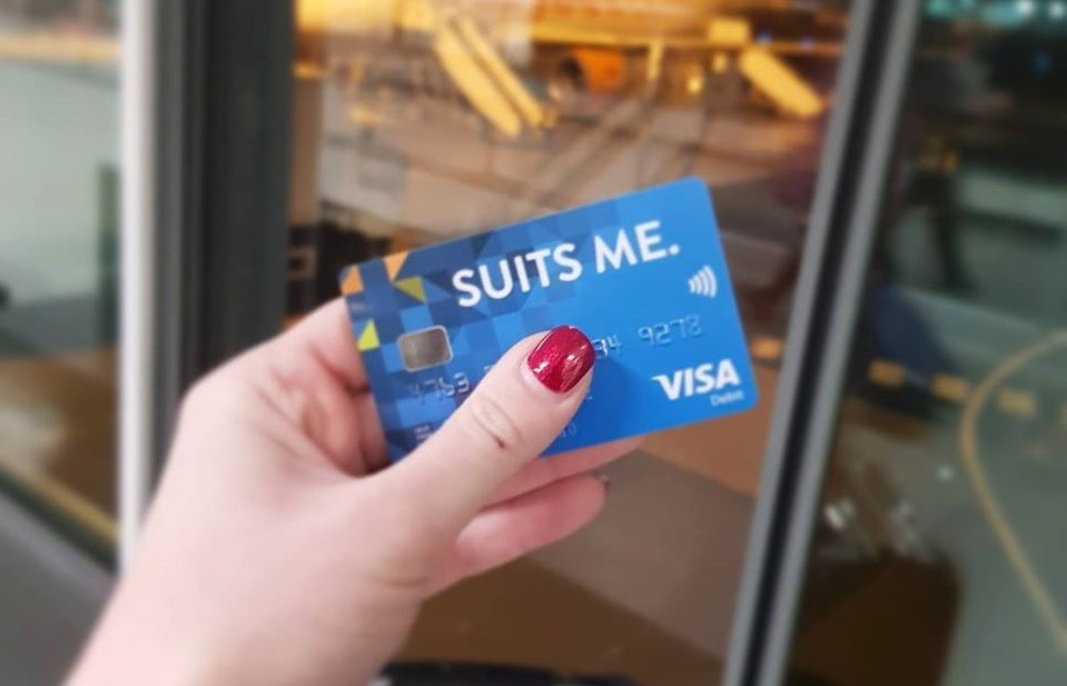 Simple Modern Banking - Check Out The Suits Me Debit Card
